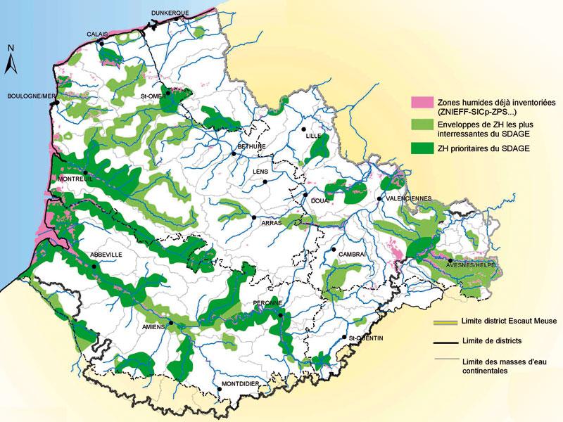 zones humides nord pas de calais picardie