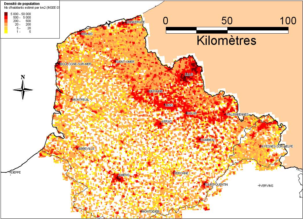 Evaluation pr liminaire des risques d 39 inondation dreal for Carrelage nord pas de calais
