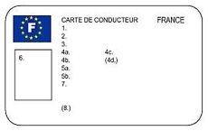 Carte conducteur (recto)